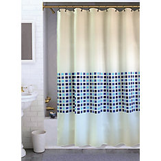Vermont Shower Curtain, Blue - 70 Inches x 72 Inches