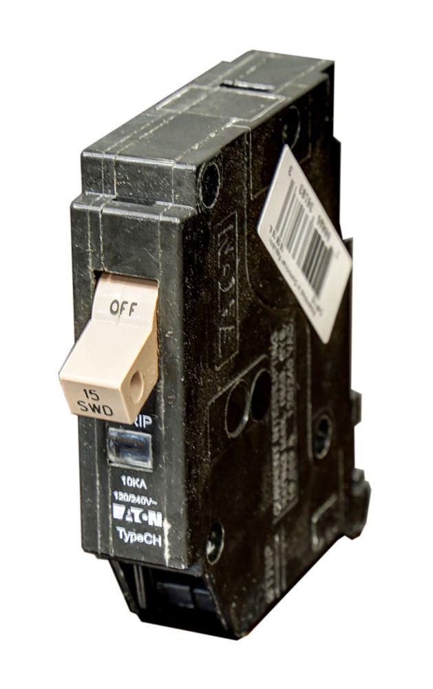 Ch Circuit Breaker 1P 15A CH115 Canada Discount