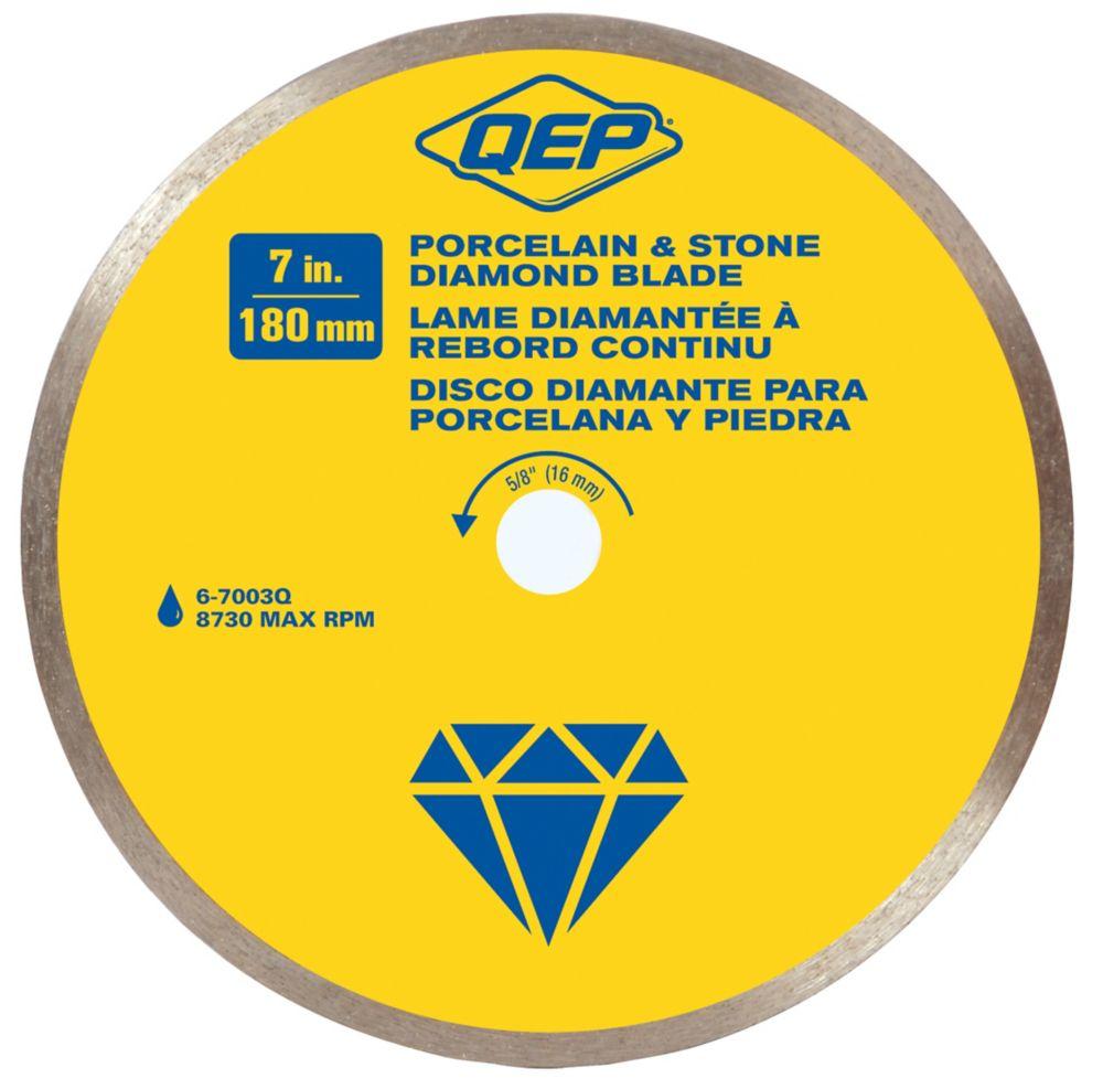 Continuous Rim Diamond Blade, 7 in. Diameter, 5/8 in. Arbor, Wet Cutting, 8730 Maximum RPM