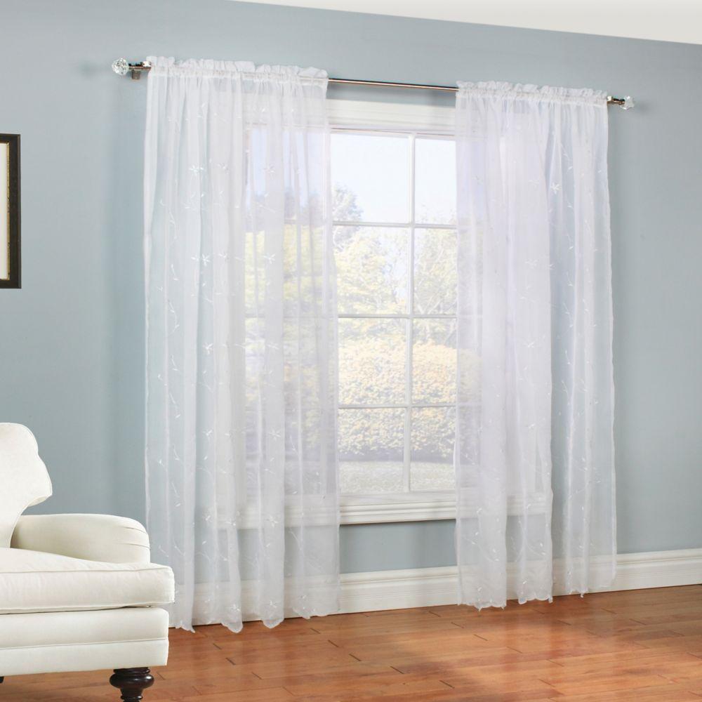 Roslyn Panneau 54X84 Inches, White