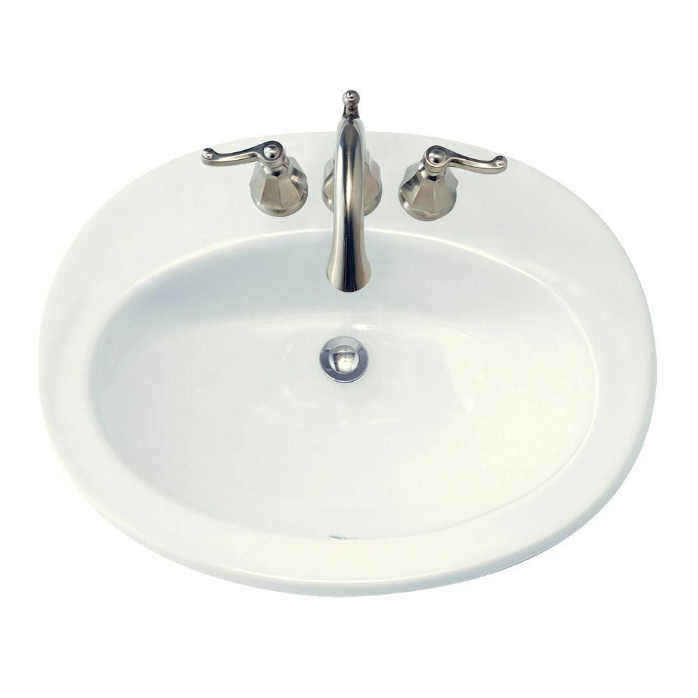 Piazza Bathroom Sink with 4-inch Centres