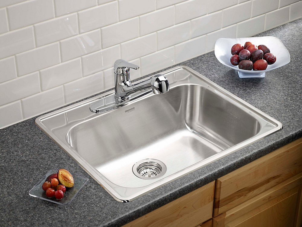 blanco homestyle 1.0 top mount stainless steel sink | the