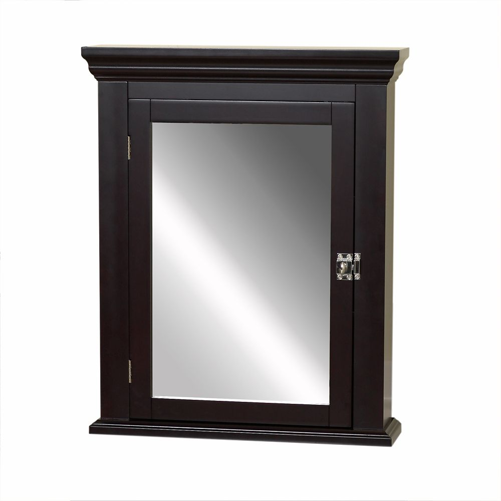 Zenith products medicine cabinet espresso the home depot canada for Espresso bathroom medicine cabinet