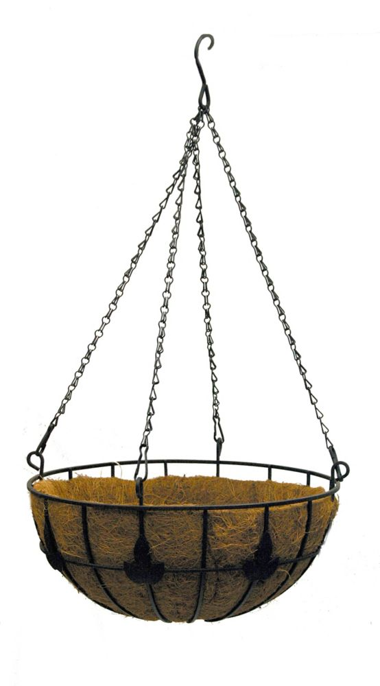 "14"" LEAF DESIGN HANGING BASKET"