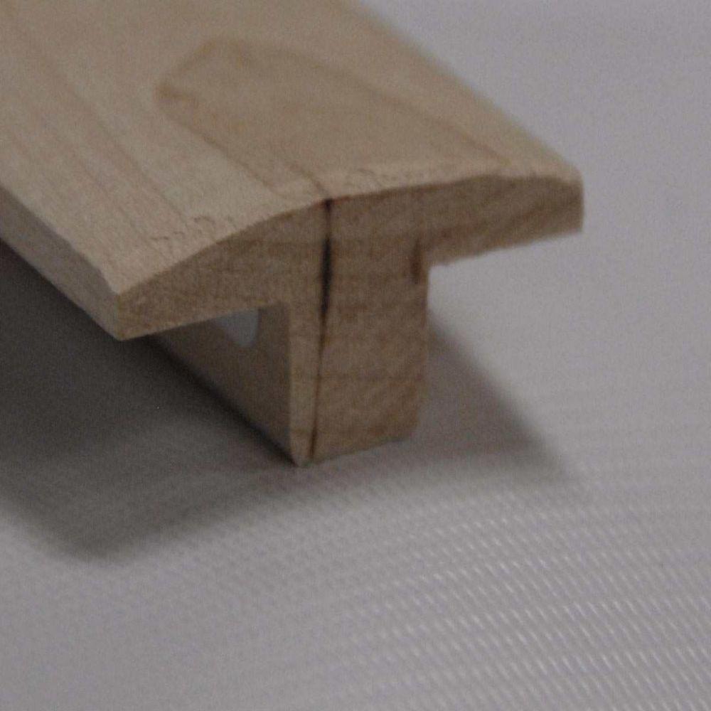 Red Oak T-Moulding Floor Moudling, Natural - 1-1/2 Inch