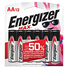 Max AA Batteries (12-Pack)