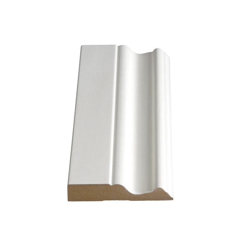 5/8-inch x 3-1/4-inch x 8 ft. Primed Fibreboard Moulding
