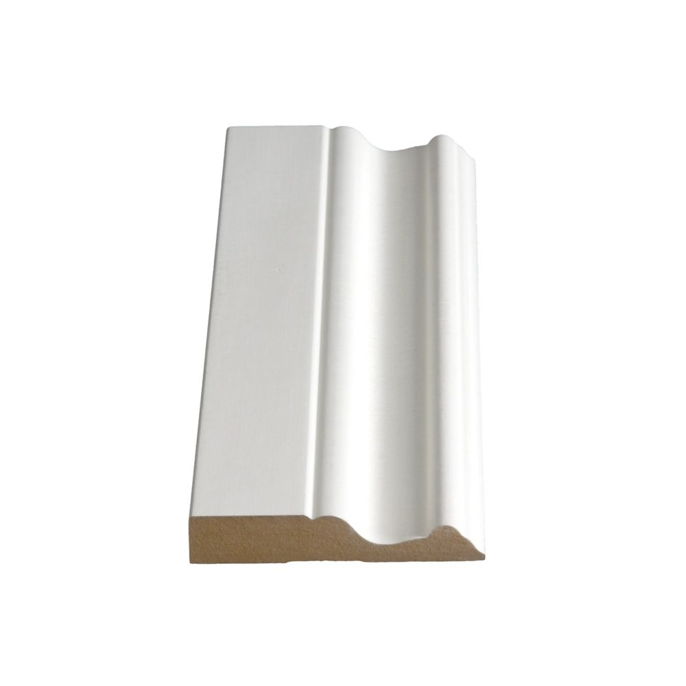 Alexandria Moulding 5/8-inch x 3-1/4-inch x 8 ft. Primed Fibreboard Moulding