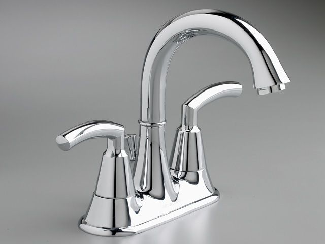 Triumph 4-inch 2-Handle Mid-Arc Bathroom Faucet in Chrome Finish