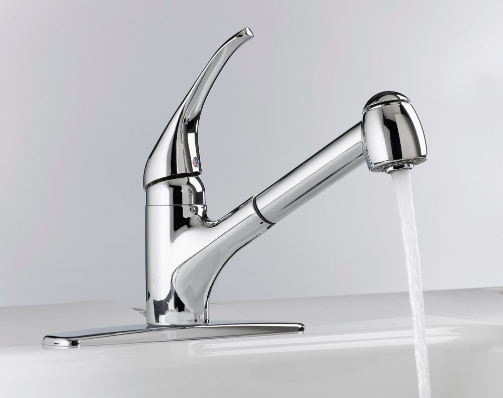 American Standard Reliant Pull Out Kitchen Faucet Chrome