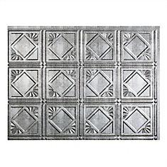 Traditional 4 Crosshatch Silver 18 inch x 24 inch PVC Backsplash Panel