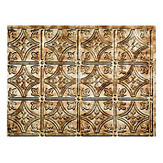 Traditional 1 Bermuda Bronze 18 inch x 24 inch PVC Backsplash Panel