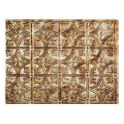 Fasade Traditional 1 Bermuda Bronze 18 inch x 24 inch PVC Backsplash Panel