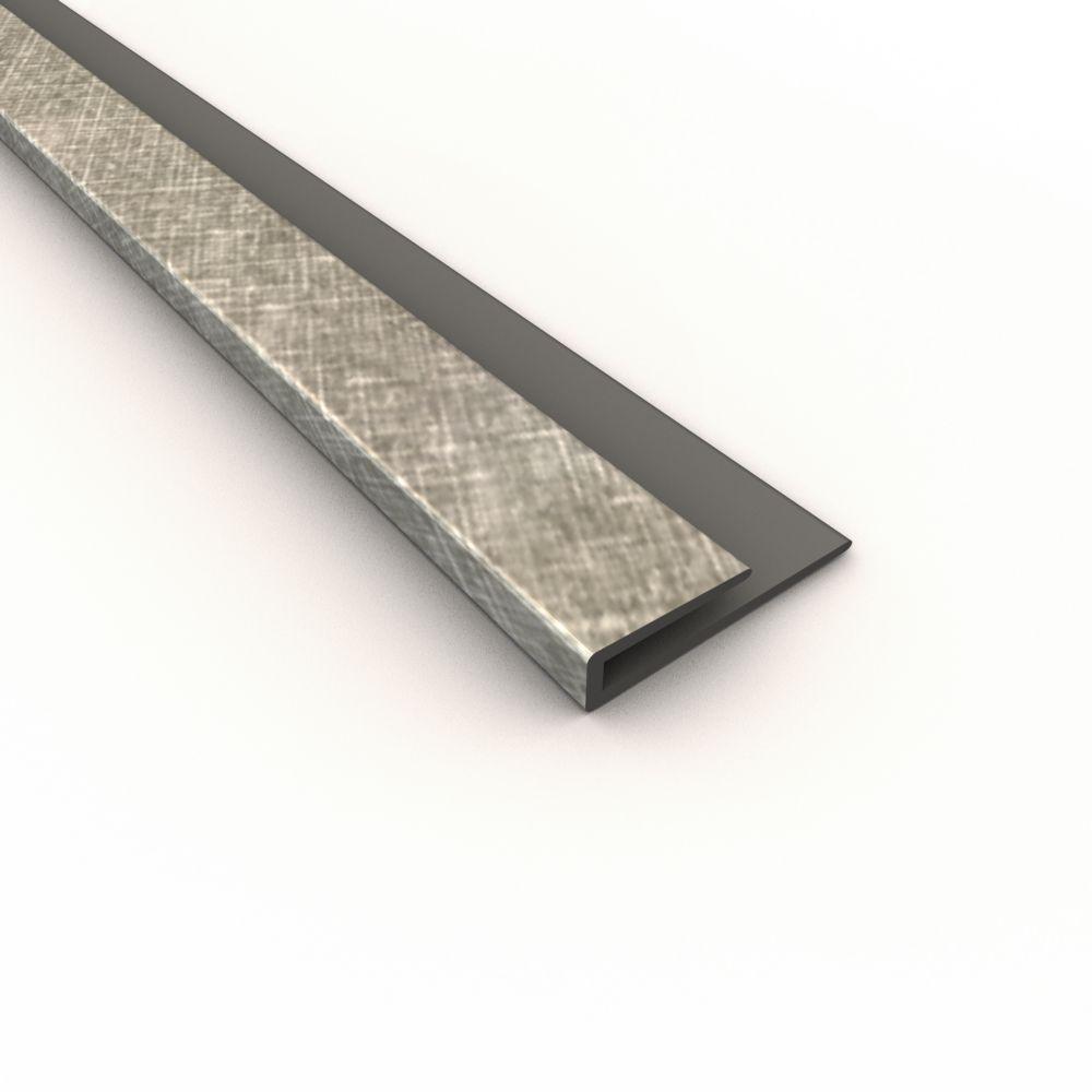 Crosshatch Silver J Trim