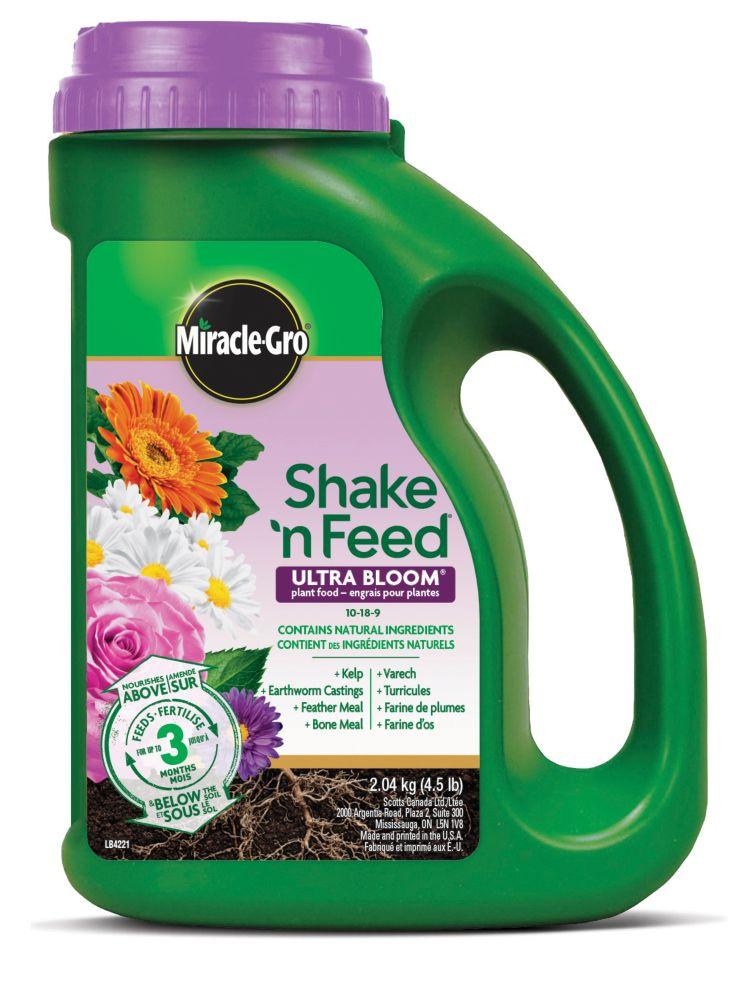 Engrais Miracle-Gro Shaken Feed Ultra Bloom - 2,04 kg