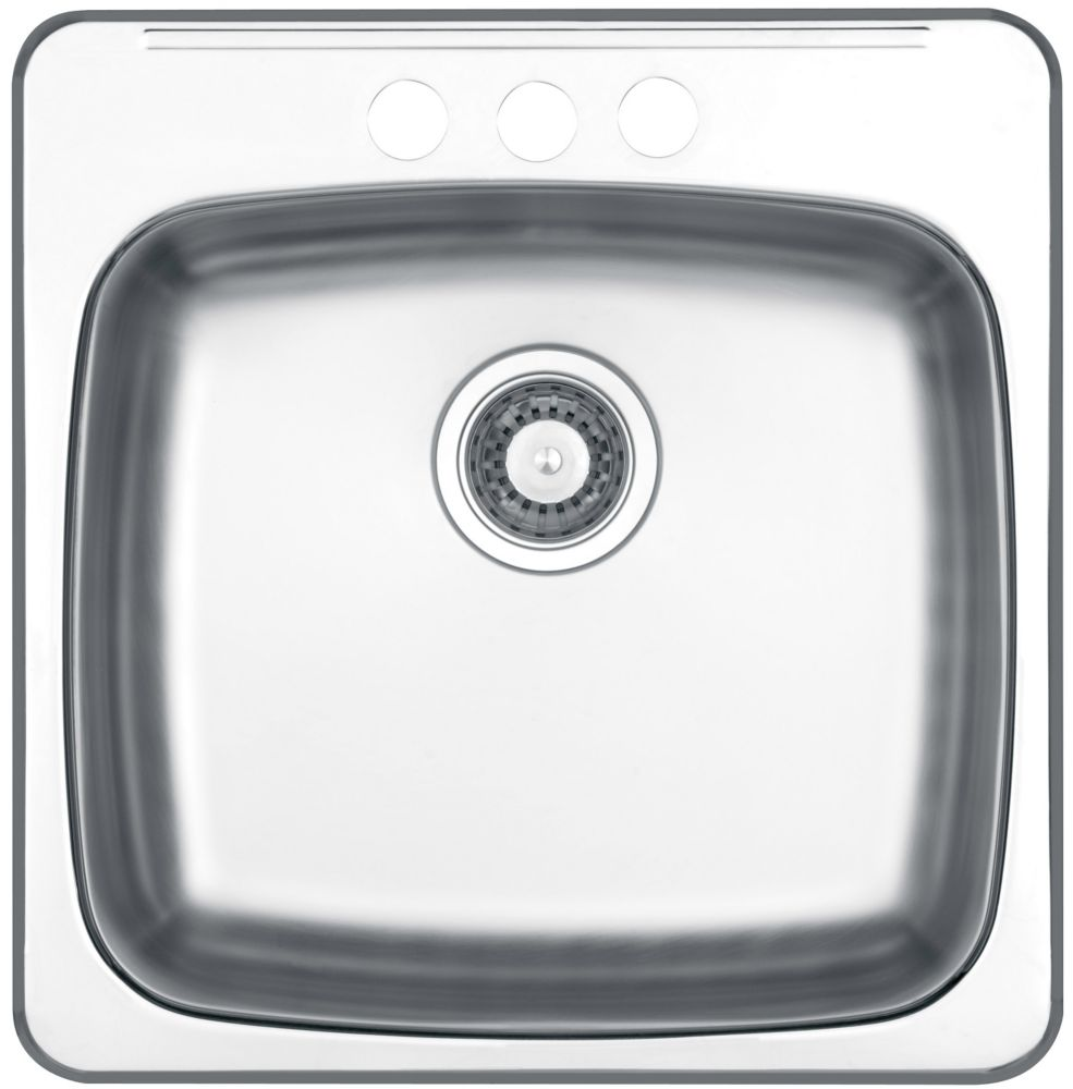 Drop In Single Bowl Stainless Steel Sink