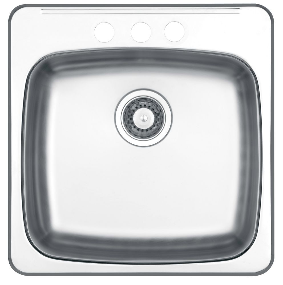 Drop In Single Bowl Stainless Steel Sink