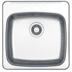 Wessan Drop In Single Bowl Stainless Steel Sink