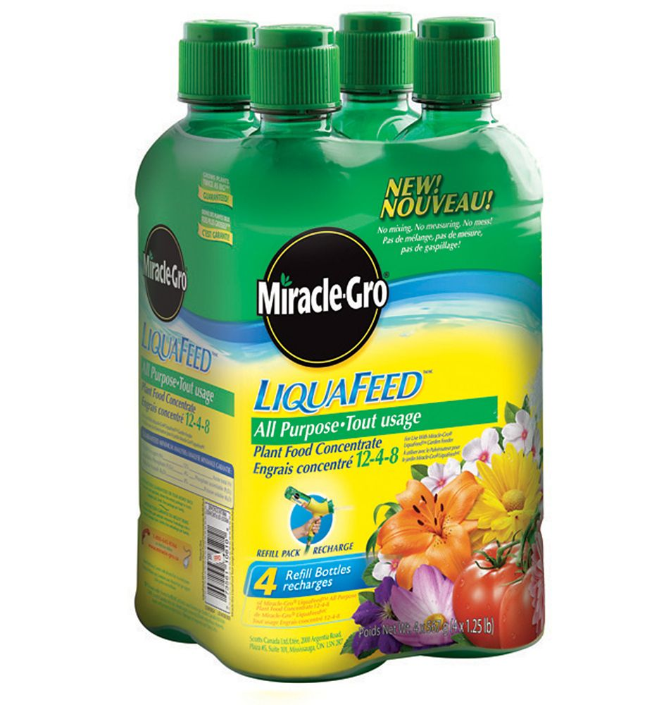 Miracle-Gro LiquaFeedMC tout usage � Emballage de 4 recharges