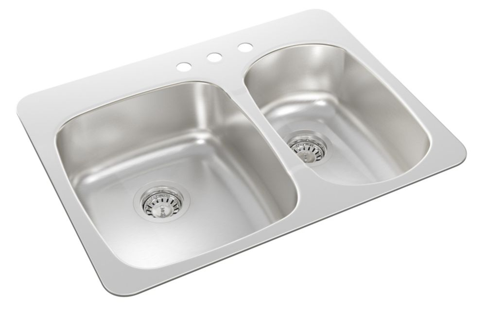 Drop In One and a Half Bowl Stainless Steel Sink