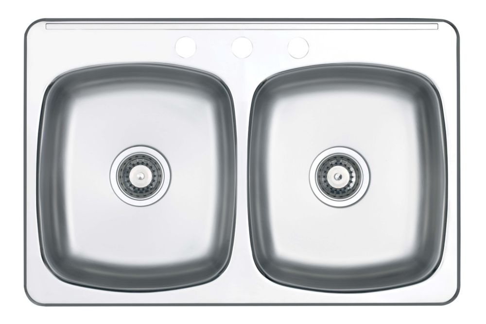 Double-Bowl Stainless Steel Sink