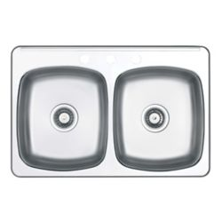 Wessan Double-Bowl Stainless Steel Sink