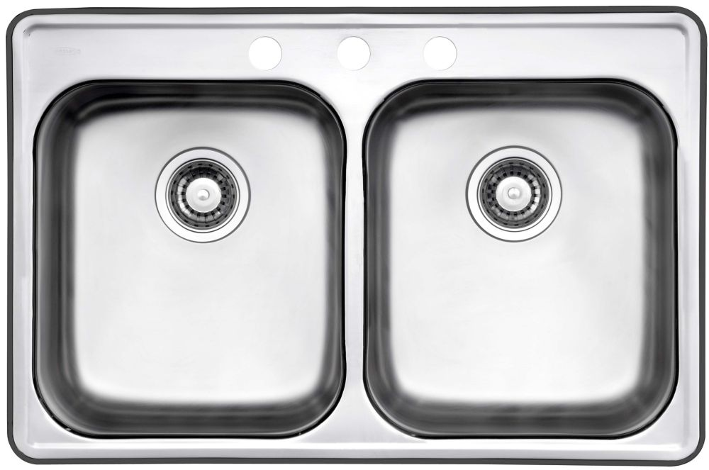 Drop In Two Bowl Stainless Steel Sink