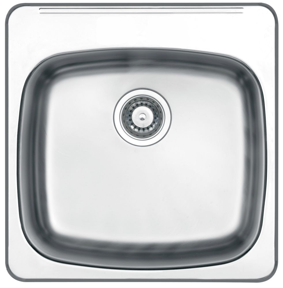 Wessan drop in 10 deep stainless steel laundry sink the home depot canada