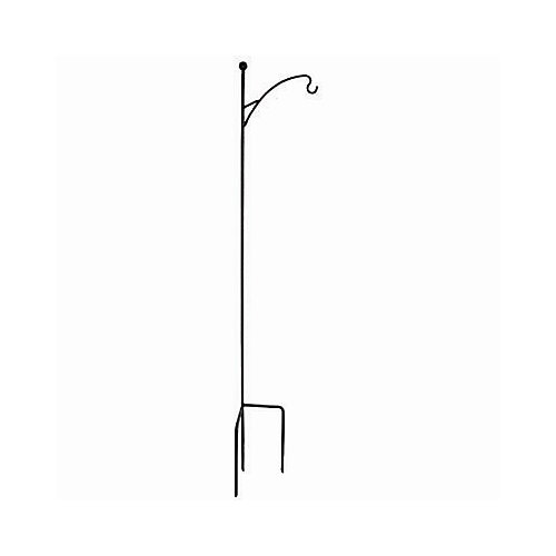 64-inch Single Shepherd Hook in Black