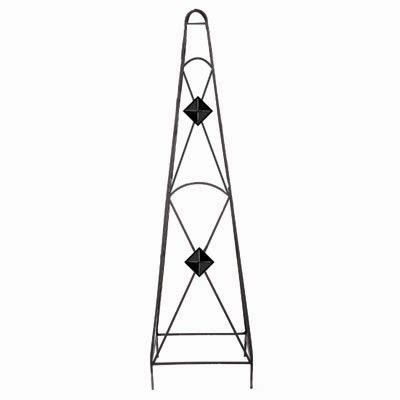 45 In. X 12 In. X 12 In. Diamond Obelisk-Black