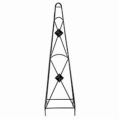 45-inch x 12-inch x 12-inch Diamond Obelisk in Black