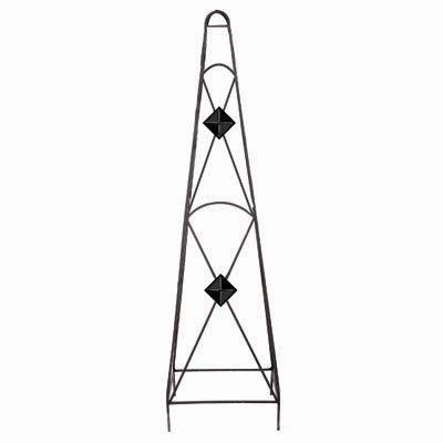 45 In. X 12 In. X 12 In. Diamond Obelisk-Black