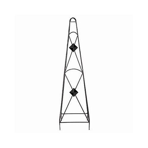 Peak Products 45-inch x 12-inch x 12-inch Diamond Obelisk in Black