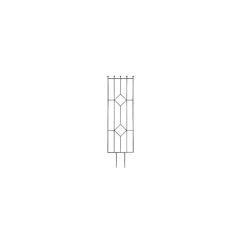 Peak Products 72-inch x 20-inch Gems Trellis in Black