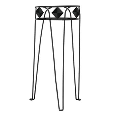 27 In. Diamond Plant Stand-Black