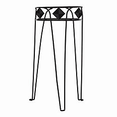 21-inch Diamond Plant Stand in Black