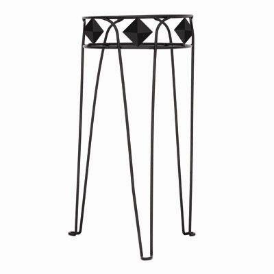 15 In. Diamond Plant Stand-Black