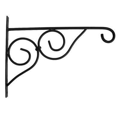 15 In. Victorian Plant Bracket-Black