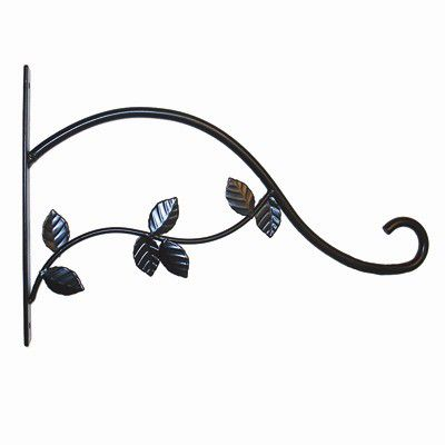 15 In. Leaves Plant Bracket-Black