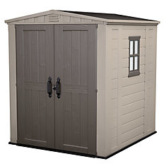 6 ft. x 6 ft. Shed in Taupe