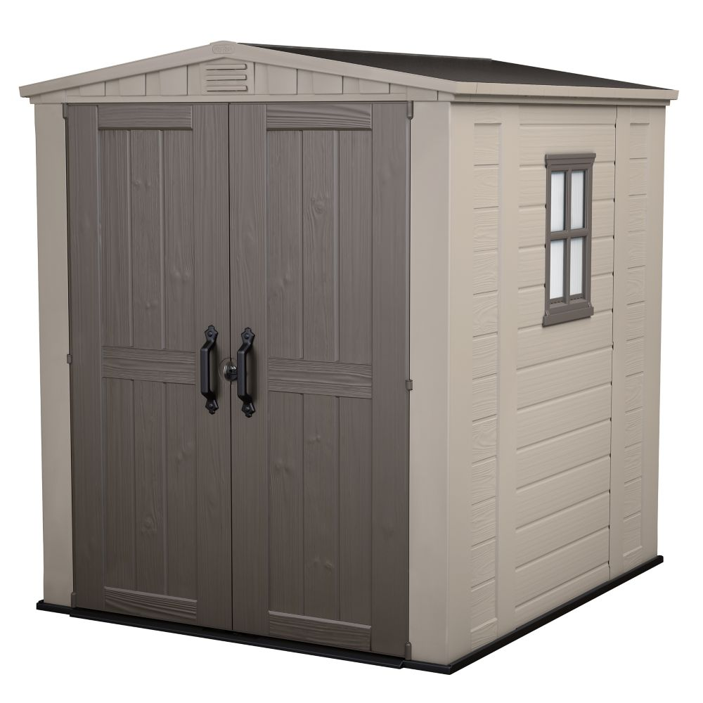 Jardin 6 ft x 6 ft Shed in Taupe The Home Depot Canada