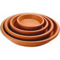 New England Pottery 12 1/4-inch Saucer in Terra Cotta