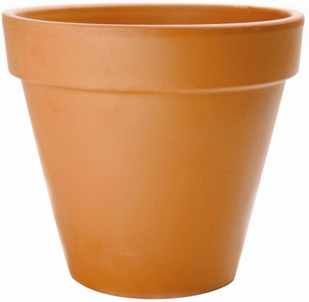 21 cm Pot De Fleur - Terre Cuite
