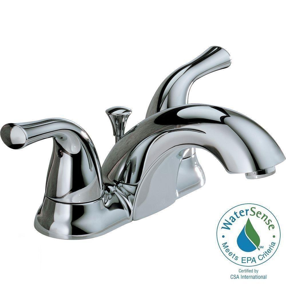 Delta robinet de salle de bain jeu central de style for Changer robinet salle de bain