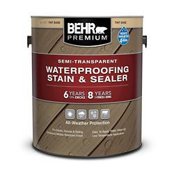 Behr BEHR PREMIUM SEMI-TRANSPARENT WEATHERPROOFING WOOD STAIN, TINT BASE, 3.55 L