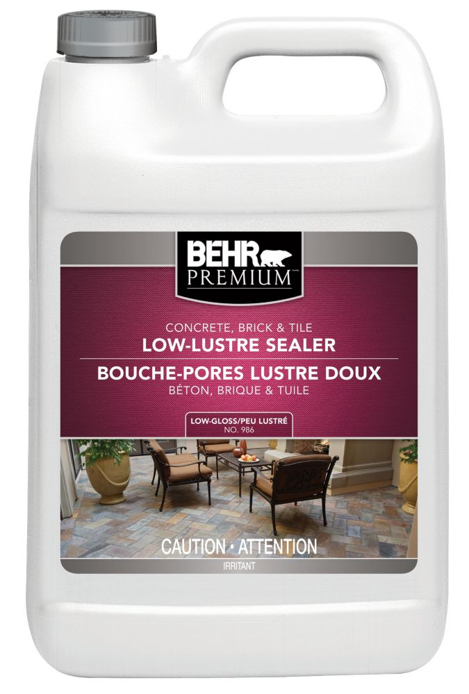 BEHR PREMIUM Concrete, Brick & Tile Wet-Look Sealer, Low-Gloss - 3.79L