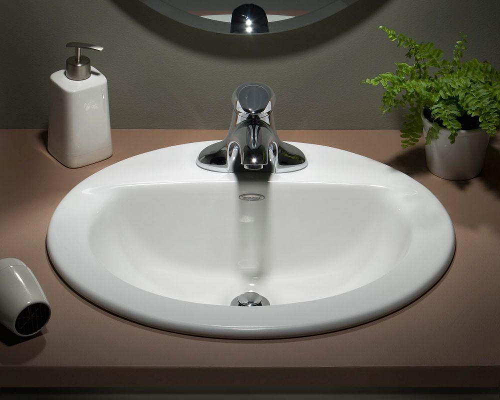 American Standard Cadet Drop In Oval Self Rimming Sink