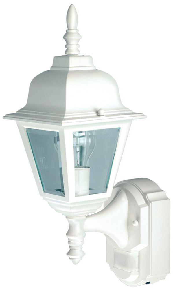 180 Degree Country Cottage Lantern with Clear Beveled Glass - White