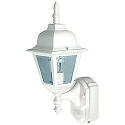 Heath Zenith Lanterne de chalet de style campagnard de 180 degrés avec verre transparent biseauté- blanc