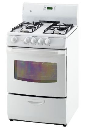 3.0 cu. ft. Gas Standard Clean Range in White